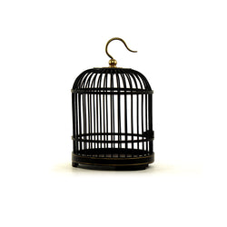 Rosewood Miniature Bird Cage (Black)