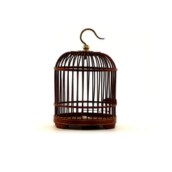 Rosewood Miniature Bird Cage (Red)