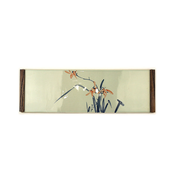 Handpainted Lilys Dry Brew Tray