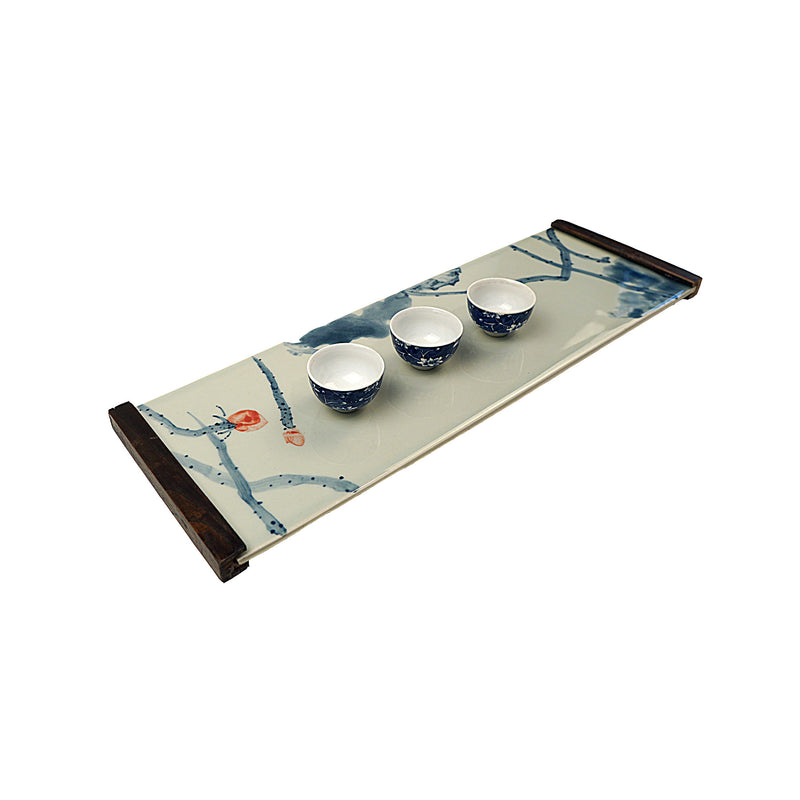 Handpainted Cherry Blossom Dry Brew Tray