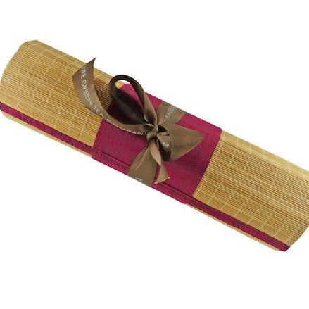Bamboo Table Runner - Red Center Stripe