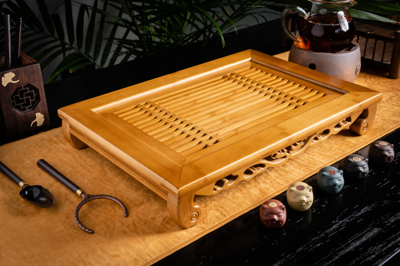 Linear Bamboo Tea Tray