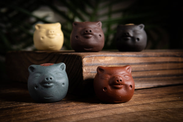 Terracotta Dimpled Piglet Tea Pets