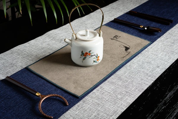 Ceremonial Tea Table Runner Set - Linen (Grey)