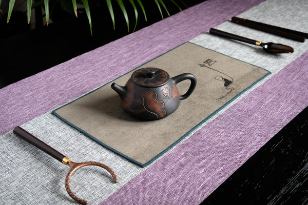 Ceremonial Tea Table Runner Set - Linen (Pastel Purple)