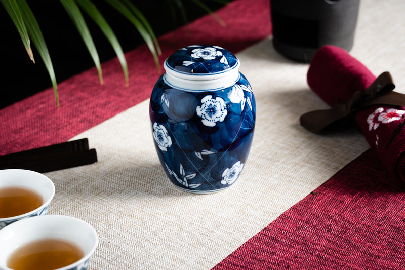 Blossoming Bamboo Jingdezhen Canister (Caddy)