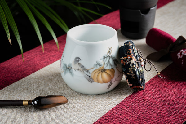 Pear Shape Melon Jingdezhen Canister (Caddy)