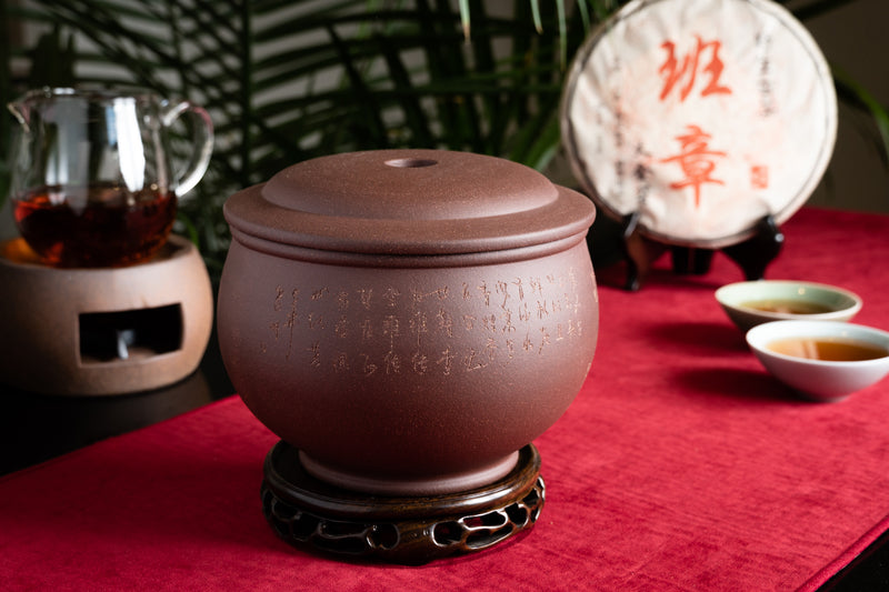 Terracotta Tea Canister (Caddy) - Double lid