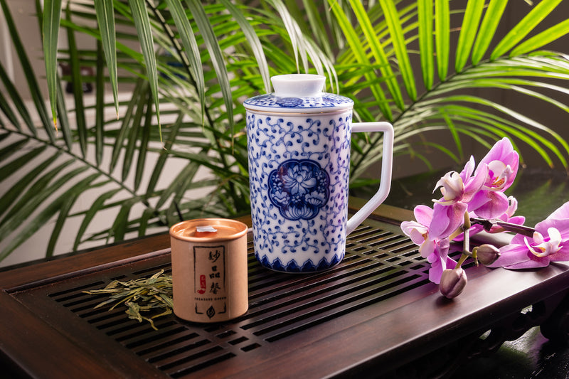 Harmonious Jingdezhen Tall Mug with Infuser