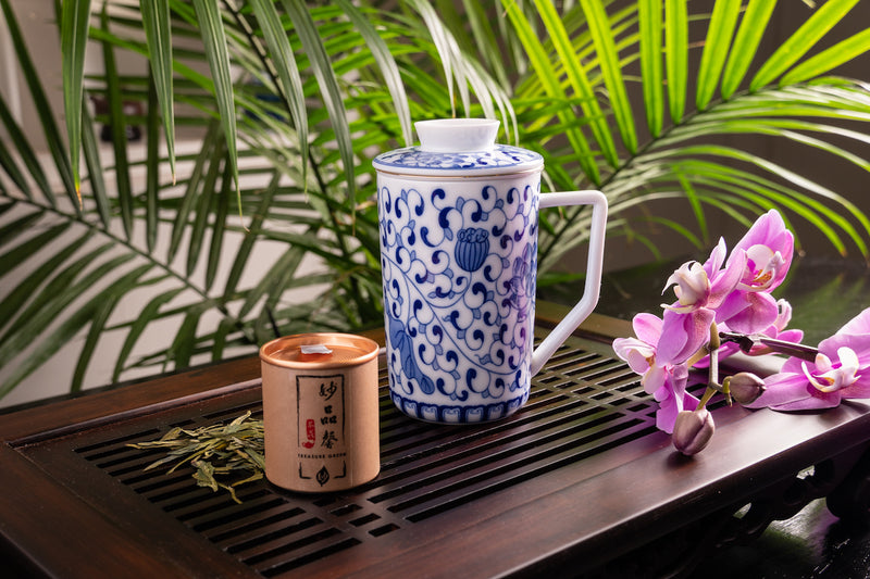 Tangier Jingdezhen Tall Mug with Infuser