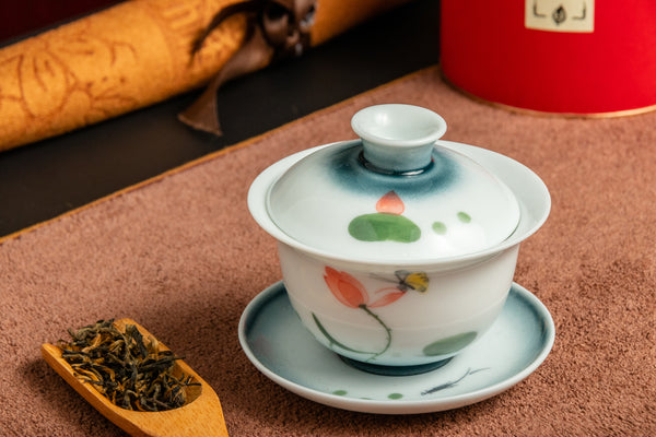 Gaiwan The Lotus - Hand-Painted