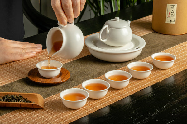Designer Pot & Tray Tea Set 9 pieces