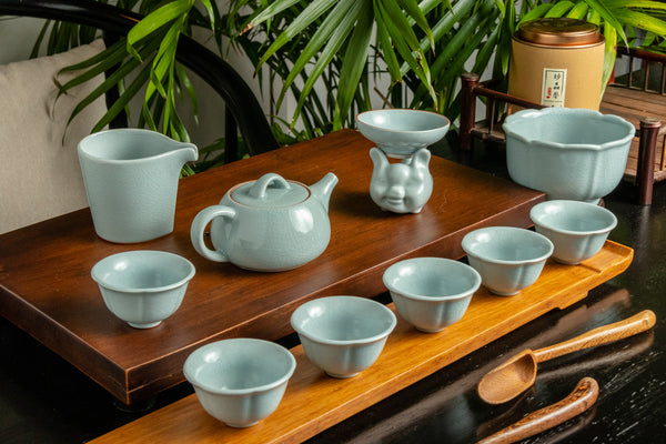 Shi Piao Pot Ru Yao Full 12 Piece Set with Rinse Bowl