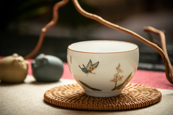 My Butterfly Hand Crafted Jingdezhen Cup