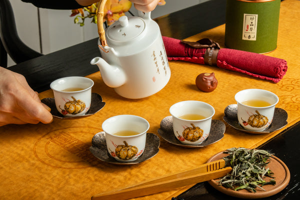 Jingdezhen Pumpkin Tea Set