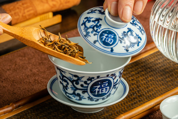 Jingdezhen Gaiwan 175ml Lotus Fortune 景德鎮 蓋碗