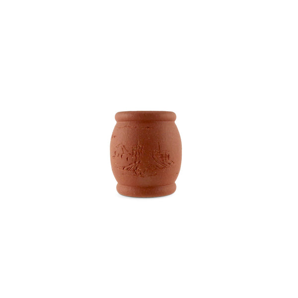 Terracotta Lid Holder Stand Barrel Shape