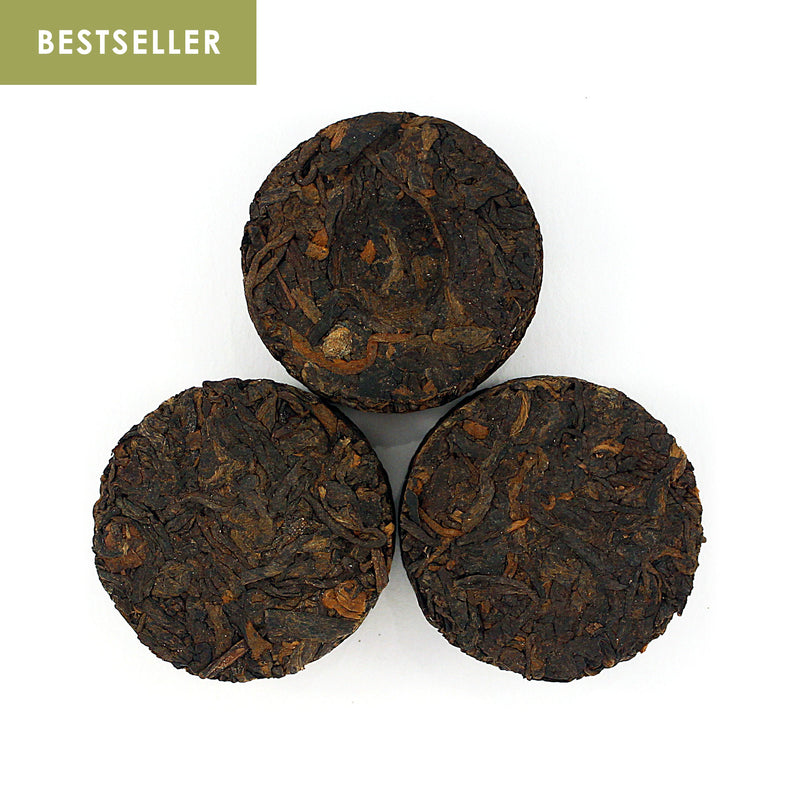 2008 Bamboo Mini Pu-erh Tea Cakes (Cooked/Shou) ⽵殼普洱小餅