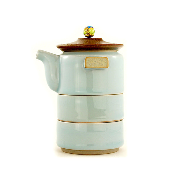 Tower Travel (Blue) Tea Set