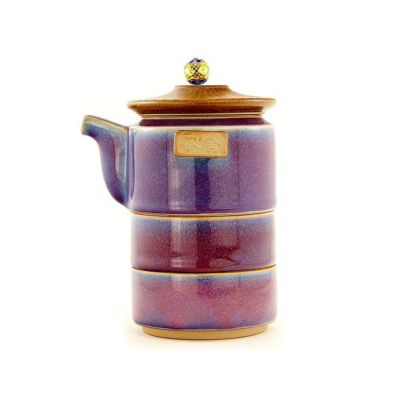 Tower Travel (Purple) Tea Set 鈞 (Jun) kiln