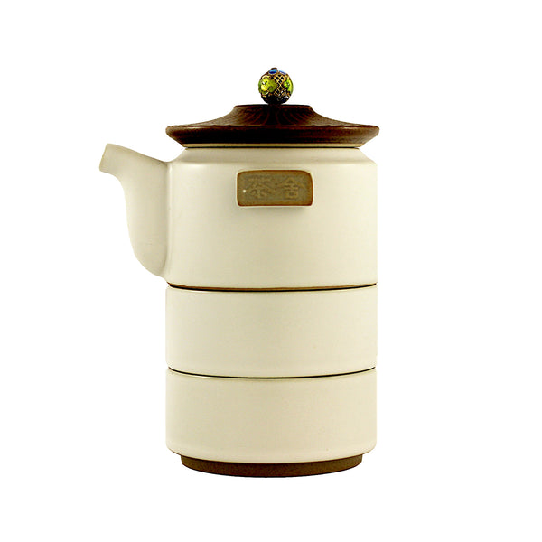 Tower Travel (White) Tea Set