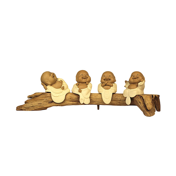 Gong Xi Fa Choy Buddhas Terracotta set of 4