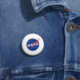 "Official NASA ""Meatball"" Logo Pin Button - SO SHINY"