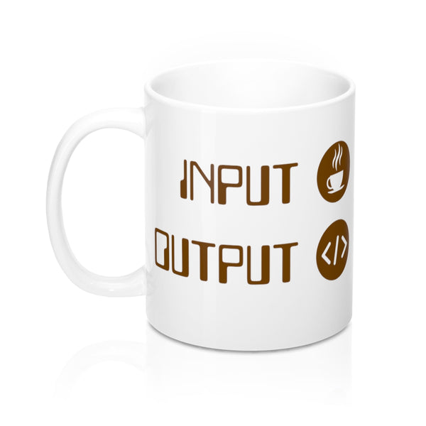 Input Coffee Output Code Coffee Mug
