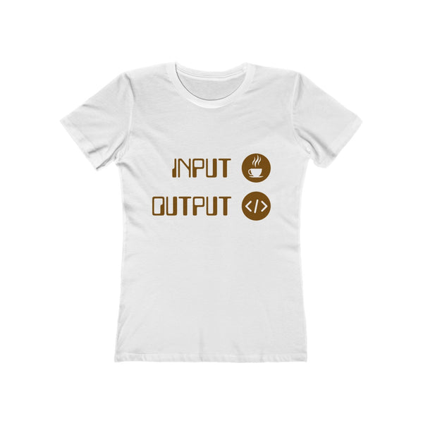 Input Coffee Output Code Women's Slim Fit T-shirt