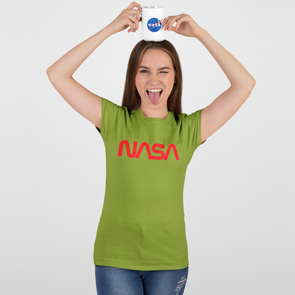 "Official NASA Retro ""Worm"" Logo Women's Slim Fit T-shirt"