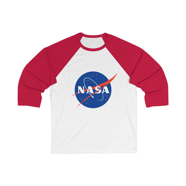 "Official NASA ""Meatball"" Logo 3/4 Sleeve Baseball Raglan T-shirt"