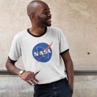 "Official NASA Retro ""Meatball"" Logo Ringer T-shirt"