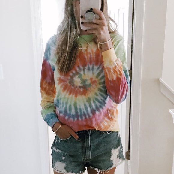Unisex Tie Dye Long Sleeve