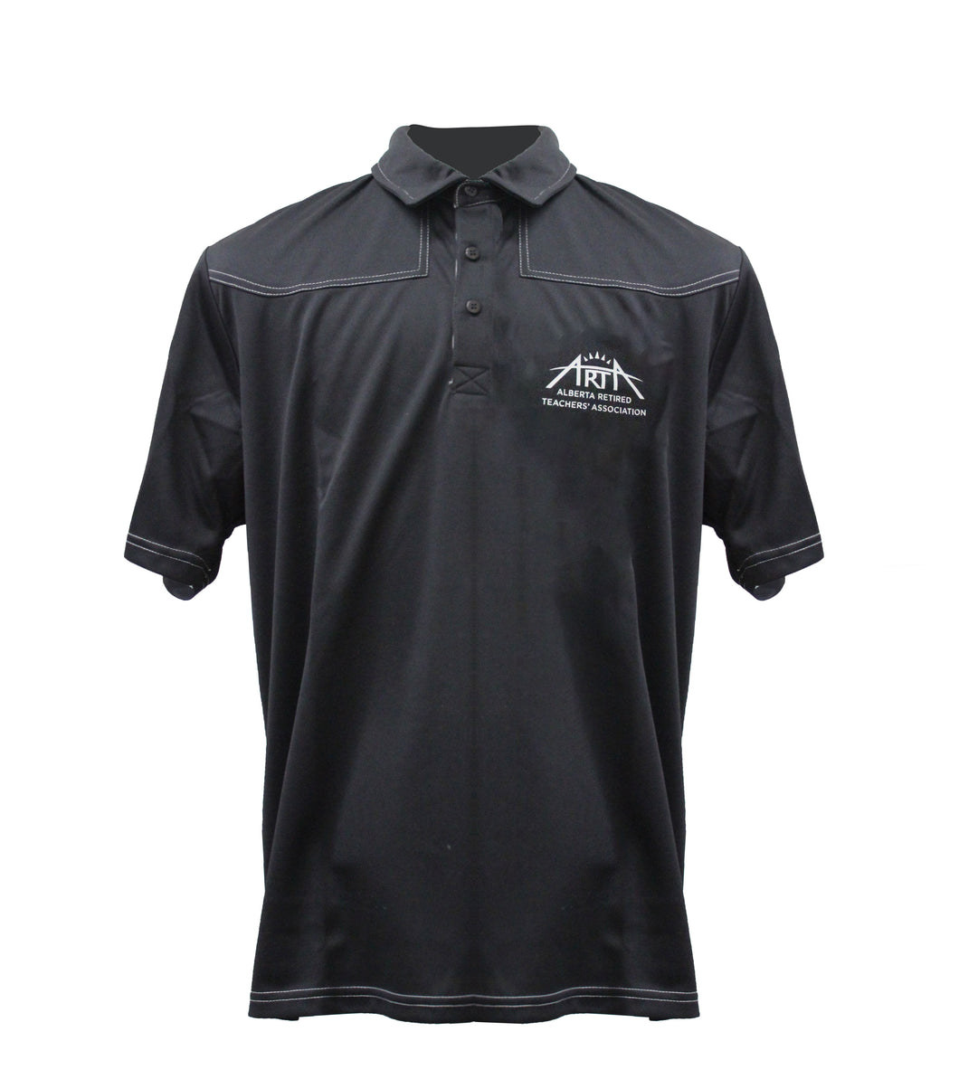 ARTA Branded Black Golf Shirt- Men's