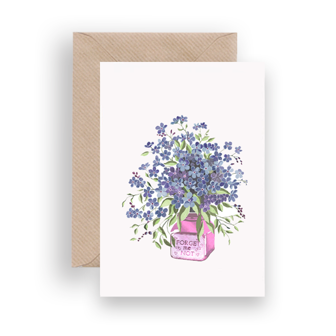 FORGET ME NOT GREETING CARD - Lykkefund Paper