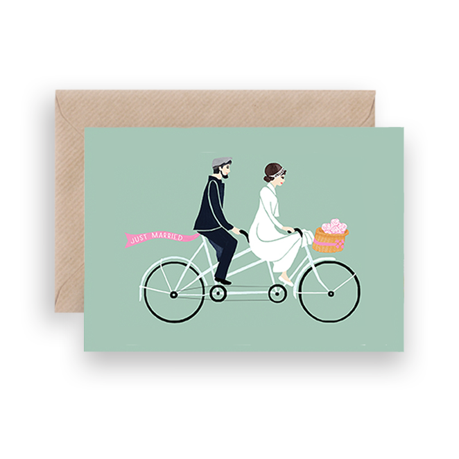 JUST MARRIED GREETING CARD - Lykkefund Paper