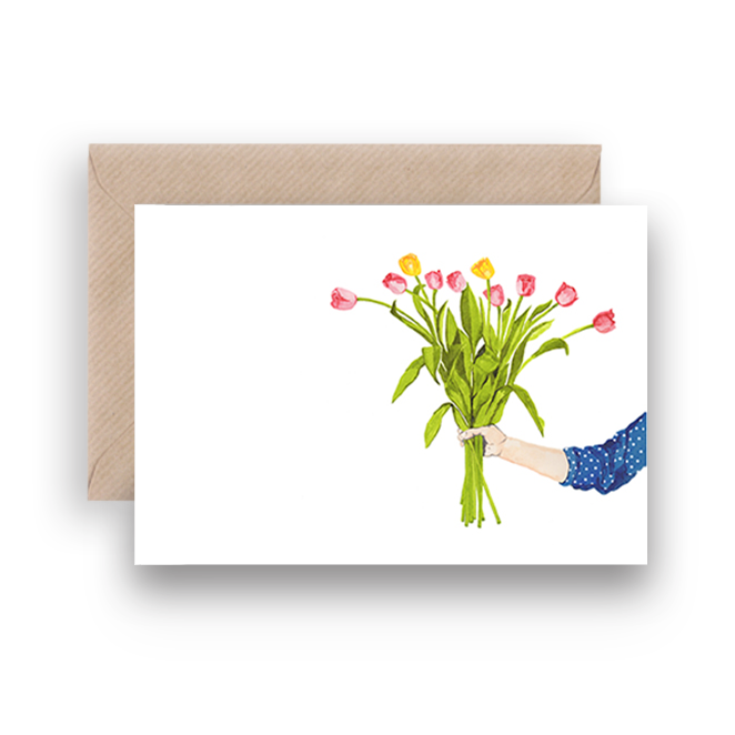 TULIP BOUQUET GREETING CARD - Lykkefund Paper