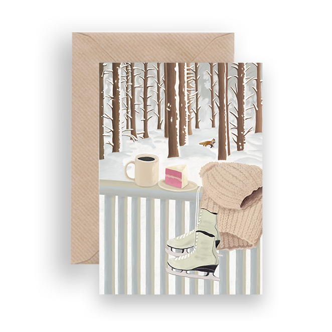 WINTER BALUSTRADE CHRISTMAS CARD - Lykkefund Paper