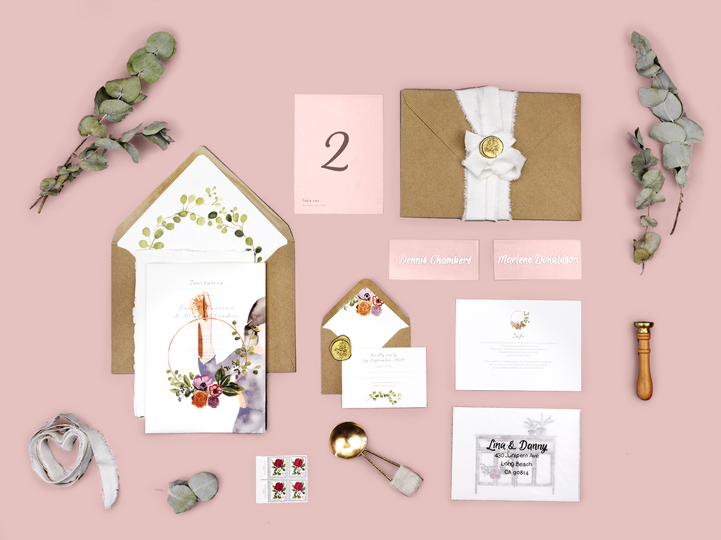 THE WEDDING WREATH SUITE - Lykkefund Paper