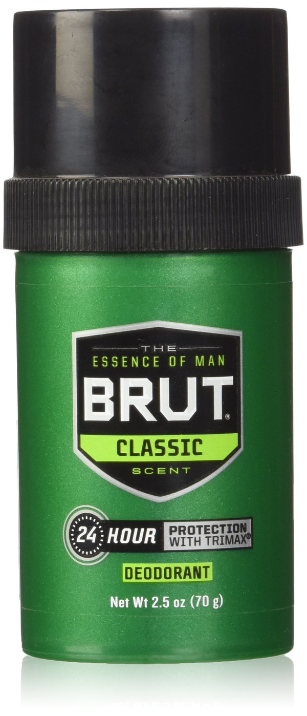 Brut Round Solid Deodorant For Men, 2.5 oz