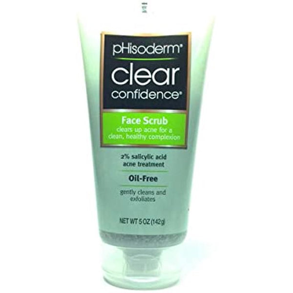 Phisoderm Clear Confidence, Face Scrub, Cleans Exfoliates Acne, 5oz