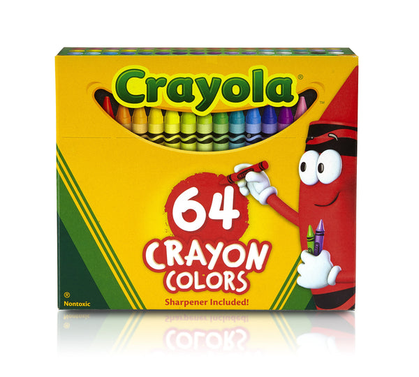 Crayola 64 Count Crayons With Built-In Sharpener - H&B Aisle