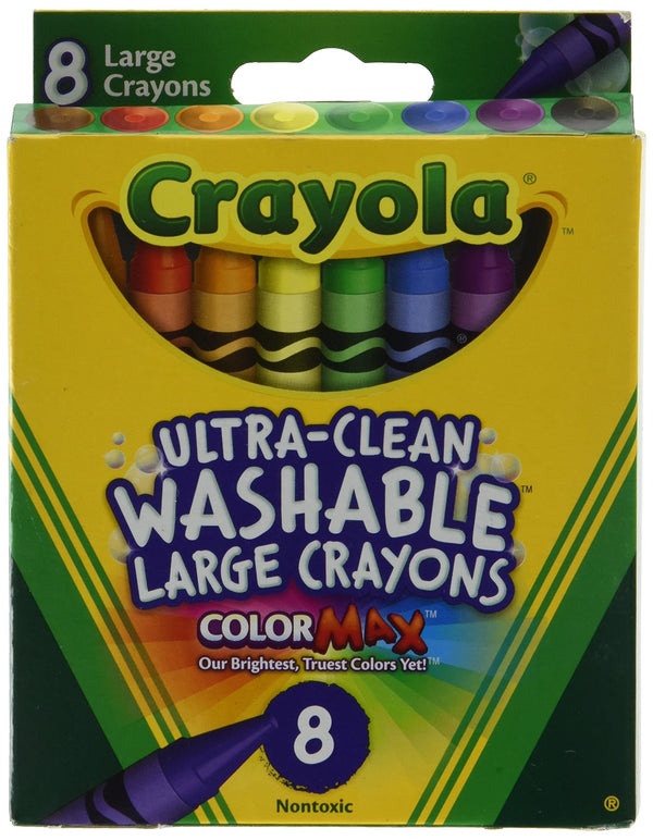 Crayola 5555 Kid's First Large Washable Crayons 8 Count - H&B Aisle