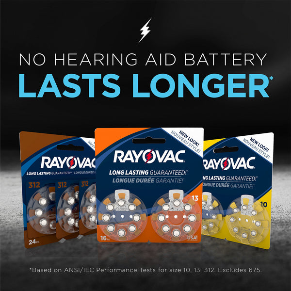 RAYOVAC L10ZA-8ZMB, 8-Pack, Size 10 Hearing Aid Batteries- Expires:  July 2021