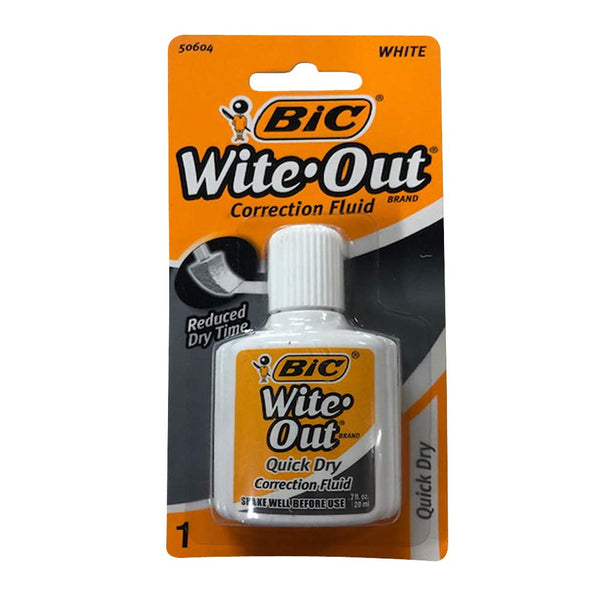 Bic Wite-Out Quick Dry Correction Fluid - 20ml
