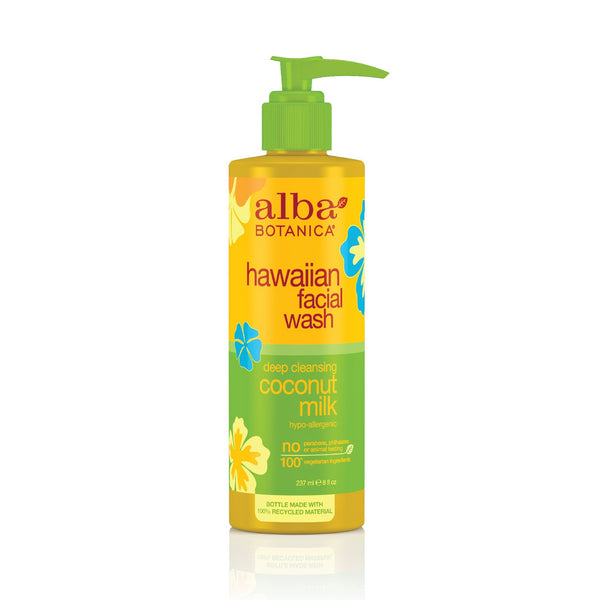 Alba Botanica Hawaiian Nourishing Face Wash, Coconut Milk, 8 Fl Oz - H&B Aisle
