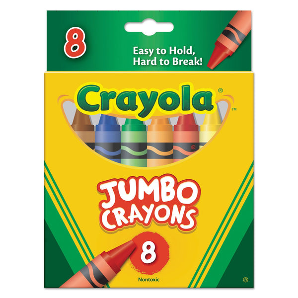 Crayola Crayons Jumbo 8Ct Peggable Tuck Box - Bin389