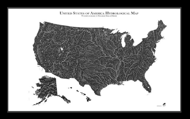 USA Hydrological Map
