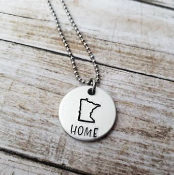 Home State Round - Necklace - TheSotaShop