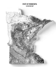 MN Elevation map